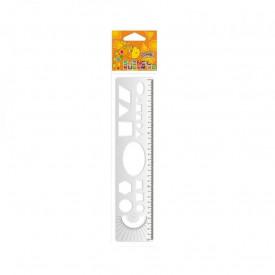 Liniar cu sabloane geometrice, 30 cm - S-COOL