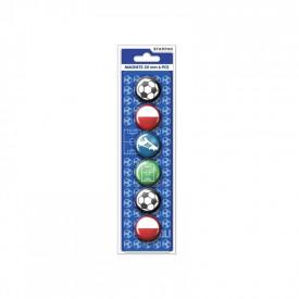 Magneti Fotbal 30 mm 6 buc|set - STARPAK