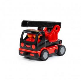 Masina pompieri cu scara - Mammoet, 19x10x12 cm, Polesie
