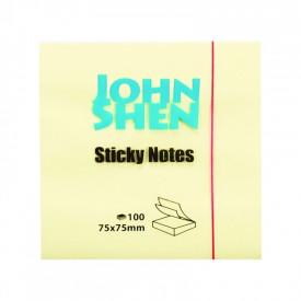 Notes adeziv 75x75 mm 100 file - JOHN SHEN