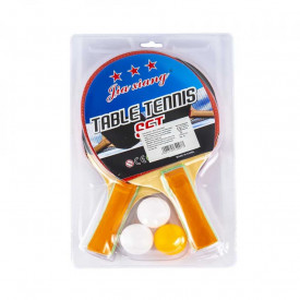 Palete ping-pong + 3 mingi, 1 set/blister