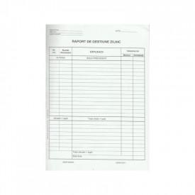 Raport de gestiune zilnic A4, 100 file, autocopiativ