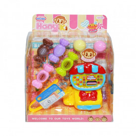 Set casa de marcat + dulciuri, in cutie