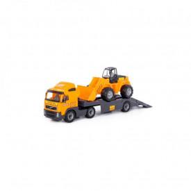 Trailer+excavator - Volvo PowerTruck, 89x19x25 cm, Wader