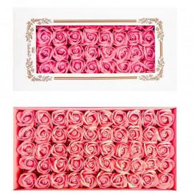 Trandafiri decorativi, din sapun, 50 buc/set - ROZ DESCHIS