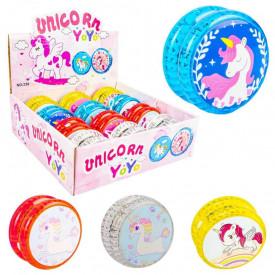 Yoyo Unicorn, color, lumina, 5.5cm