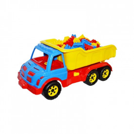 Camion plastic 60 cm + 80 cuburi - ROBENTOYS