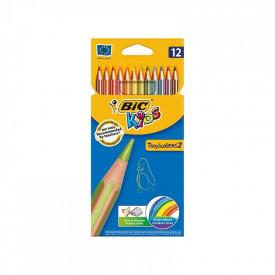 Creioane colorate Tropicolors set 12 - BIC