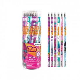 Creion cu guma, Trolls, 48 buc/set - STARPAK