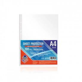Folie protectie A4, Cristal, 80mic, 100 buc/set - OFFISHOP