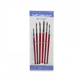 Pensule varf rotund 6 buc|set - NEBO