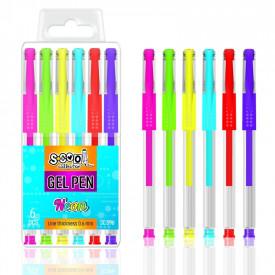 Pix cu gel, neon, 6 buc/cutie - S-COOL