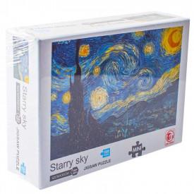Puzzle carton mini, Noapte instelata, 1000 piese