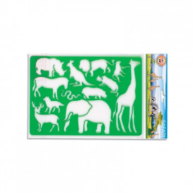 Sablon animale safari, 26,5x18,5 cm - Koh-I-Noor