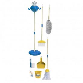 Set curatenie, din plastic, albastru