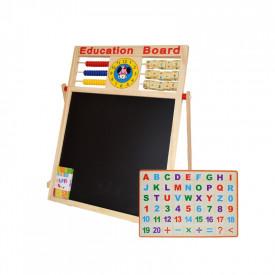 Tablita magnetica, 46,5cm, alb-negru + accesorii