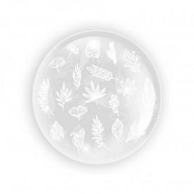 Balon transparent 45 cm - Frunze 1 - TUBAN