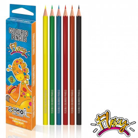 Creioane color, flexibile, 6 culori/set - S-COOL