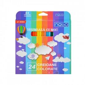 Creioane color Hexagonale Set 24 - NEBO