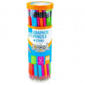 Creion grafit HB, cu radiera, Shining Star, 48 buc/cutie - S-COOL