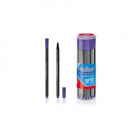 Fineliner albastru, 0.4mm, 50buc/cutie - OFFISHOP