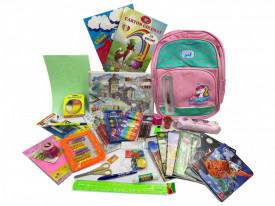 Ghiozdan echipat pentru fete Unicorn, clasele 1-2, 28 produse