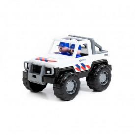 Jeep safari/politie cu 2 politisti, 23x14x13cm, Polesie