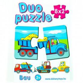 Joc puzzle Bau-16 piese, Duo Puzzle, Dohany