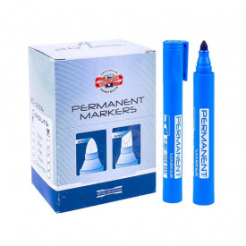 Marker permanent varf 2,5 mm albastru - Koh-I-Noor