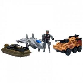 Play set armata - vehicule + figurina