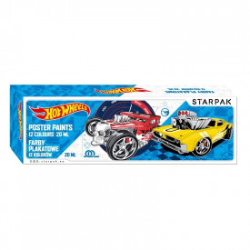 Acuarele - guase Hot Wheels 20 ml, 12 culori/set - STARPAK
