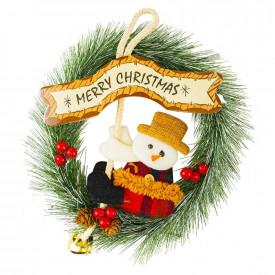 "Coronita ""Merry Christmas"", cu om de zapada"