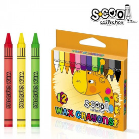 Creioane cerate, 12buc/set - S-COOL