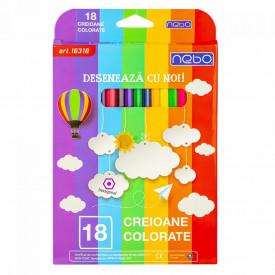 Creioane color Hexagonale Set 18 - NEBO