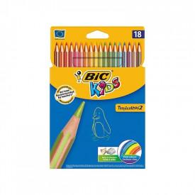 Creioane colorate Tropicolors set 18 - BIC