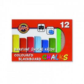 Creta scolara, 12 culori/set - Koh-I-Noor