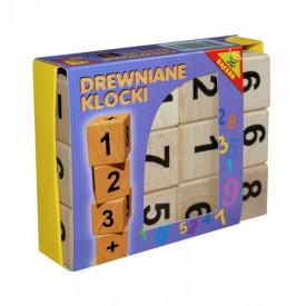 Cuburi din lemn, numere+semne aritmetice - Tupiko