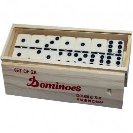 Domino, cutie din lemn
