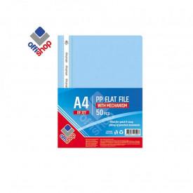 Dosar plastic A4, 120/180 mic, Albastru deshis - OFFISHOP