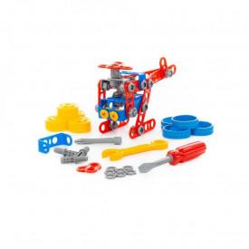 Joc constructii - Micul inginer, 91 piese/cutie, Polesie