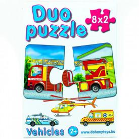 Joc puzzle Vehicles-16 piese Duo Puzzle Dohany