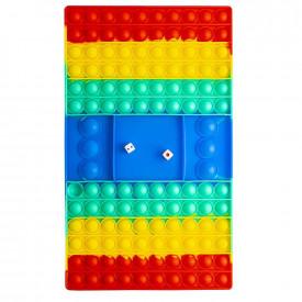 Jucarie senzoriala, antistres, curcubeu, 32,5x19x1,5 cm - Joc cu zaruri