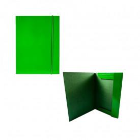 Mapa F4 cu elastic, carton, 600g/mp, verde - OFFISHOP