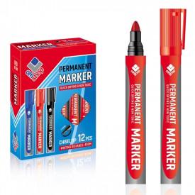Marker permanent rosu, 2-4 mm, 12 buc/set - OFFISHOP