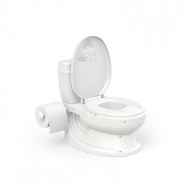 Olita tip WC, cu sunet, alb, 28x39x38cm - Dolu