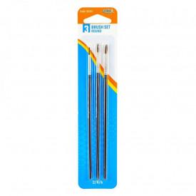 Pensule varf rotund, 3 buc/blister, 2,4,6 - S-COOL