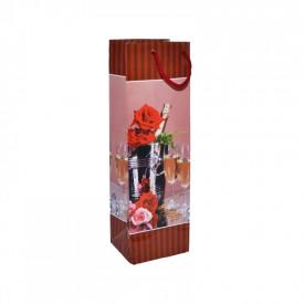 Punga cadou, pentru sticle, 10x33x9 cm
