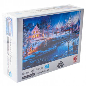 Puzzle carton mini, Peisaj de iarna, 1000 piese