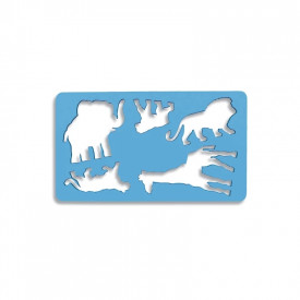 Sablon 5 animale salbatice, 21x18,5 cm - Koh-I-Noor