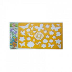 Sablon fluturi si flori, 26,5x18,5 cm - Koh-I-Noor